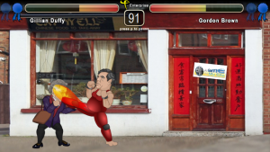 Gillian Duffy vs Gordon Brown Downing Street Fighter